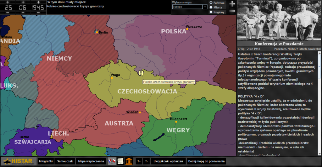 Atlas historyczny - Europa po II wojnie światowej