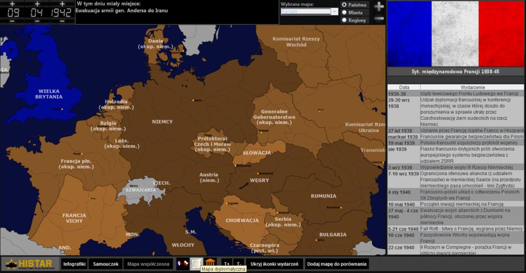 Atlas historyczny - Europa w 1942 r