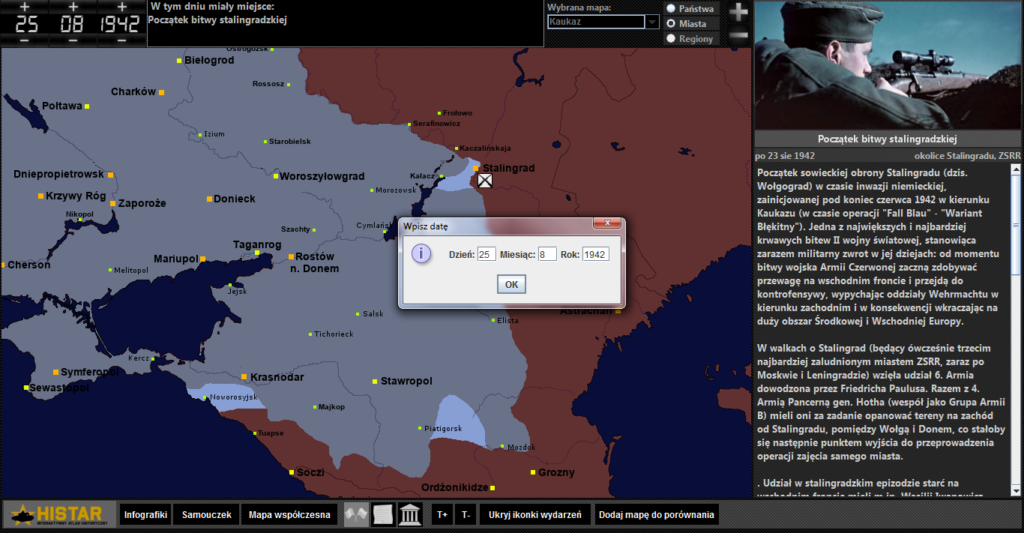 Atlas historyczny - bitwa pod Stalingradem