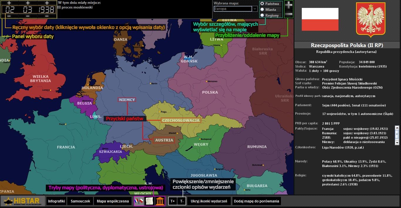 Atlas historyczny - obsługa interfejsu 1