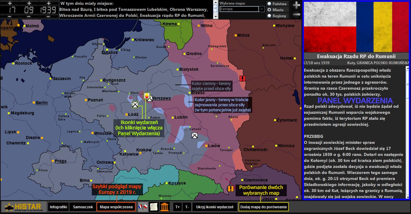 Atlas historyczny - obsługa interfejsu 2