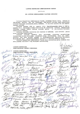 Akt Przywrócenia Państwa Litewskiego