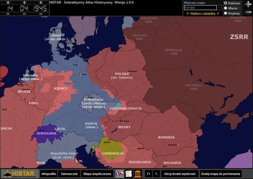 Europa Środkowo-Wschodnia kwiecień 1945