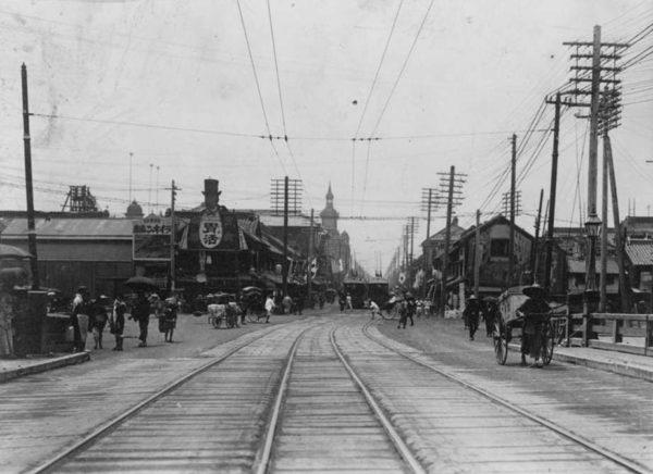 Ulica w Tokio w 1905 r.