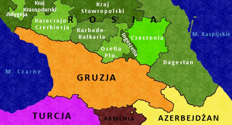 mapa kaukazu